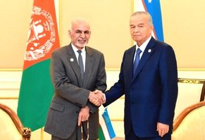 Uzbek, Afghan presidents hold security summit