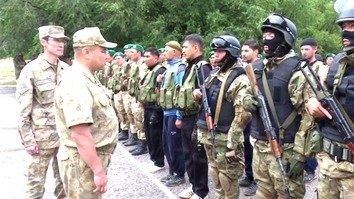 В Казахстане пограничники проходят подготовку
