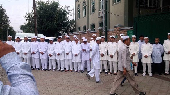 Kyrgyz boys comprise the first graduating class at the Mustafa Seminary in Bishkek in June. [Ulan Nazarov]