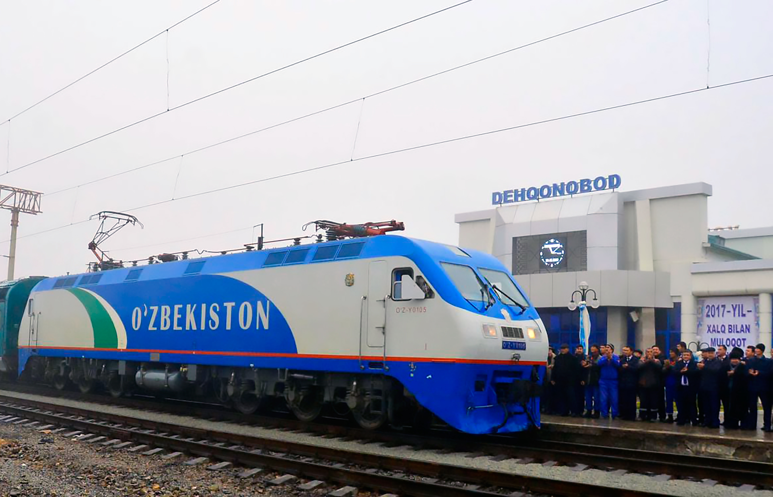 Uzbekistan electrifies railway towards Afghan border