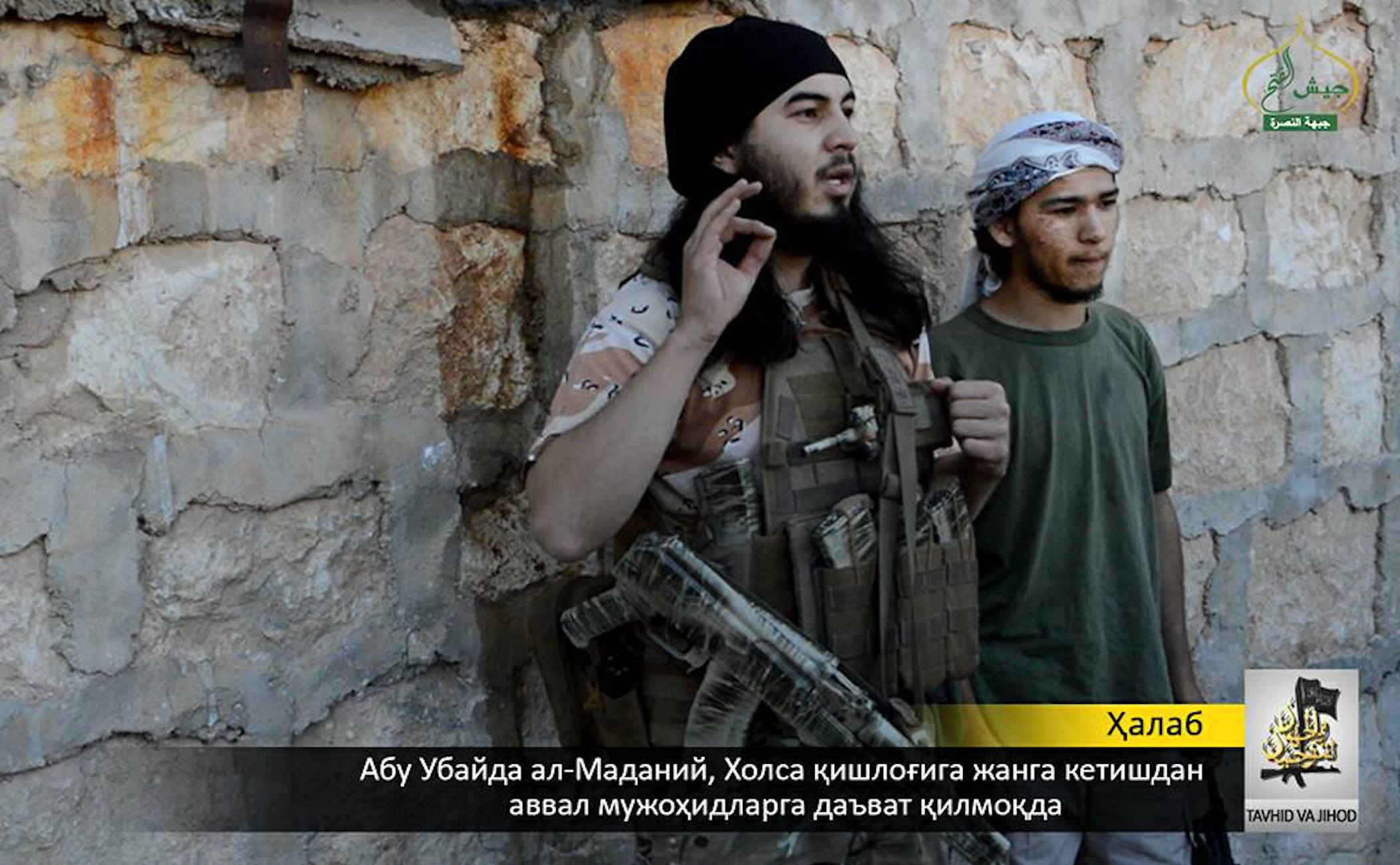 Таджикские боевики в Сирии осенью прошлого года.[Твиттер]
