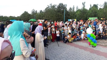 "Participants of the May 26 Bishkek festival ""Ramadan: a Holiday for the Soul"" are shown. The event coincided with the beginning of Ramadan fasting. [Asker Sultanov]"