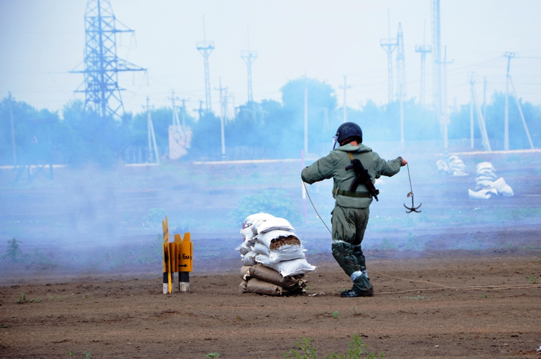 Фотографии: военные саперы Казахстана и Кыргызстана вместе совершенствуют навыки