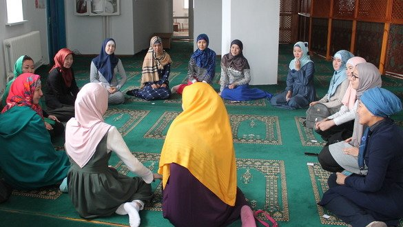 Members of the Inabat club for modern Muslim women meet in Pavlodar city November 10. The club's events are geared toward socialising women and helping them resist radicalism. [Pavlodar Province Centre for Analysis and Development of Interfaith Relations]