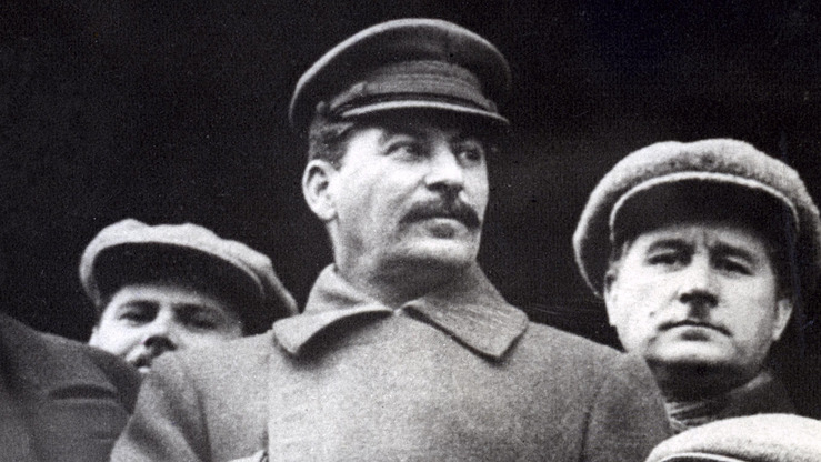 An image of Stalin in the USSR in the run up to World War II in 1937. During the 1930s, the Soviet dictator sent millions of citizens to their deaths for opposing his policies.