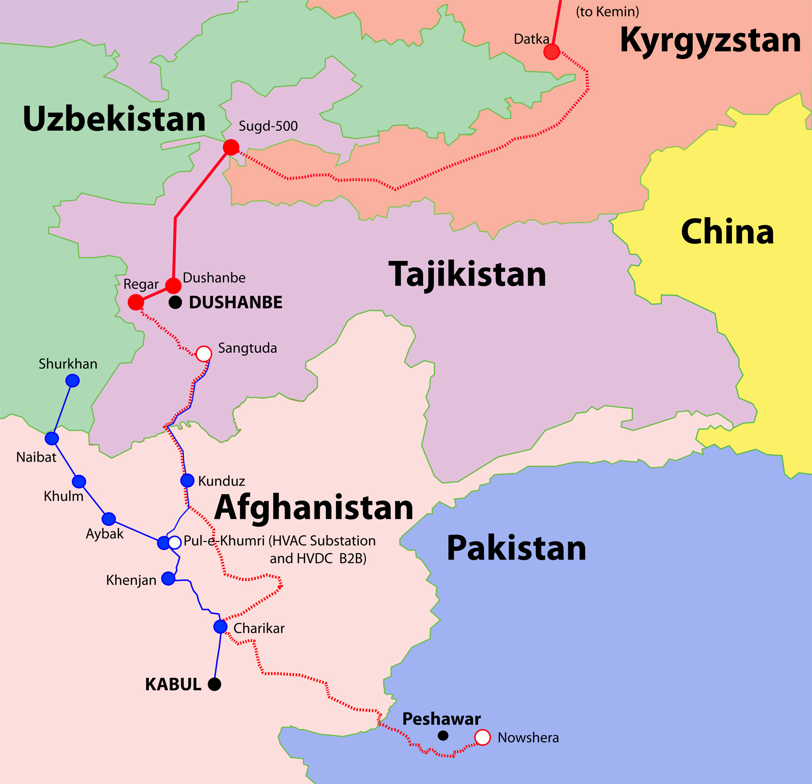 The CASA-1000 project demonstrates co-operation among among Kyrgyzstan, Tajikistan, Pakistan and Afghanistan. [casa-1000.org]