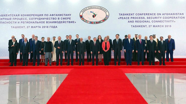 Representatives from more than 20 countries and international organisations attended the Tashkent Conference on Afghanistan, which concluded March 27, to reach a consensus on the Afghan peace process, security co-operation and regional connectivity. [Afghan Presidential Palace]