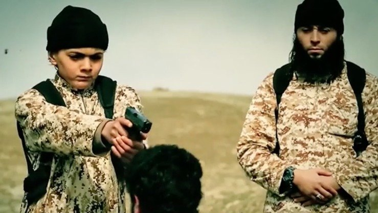 A 10-minute propaganda video released by IS last year includes a number of scenes of children brandishing handguns and shooting IS prisoners. IS's Khorasan branch has continued the inhumane recruitment of children in Afghanistan. [FILE]