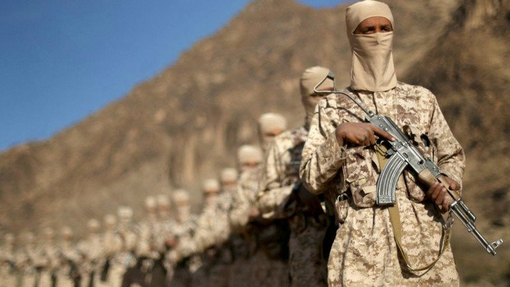 Recruits shown at an IS training camp in Yemen. IS 'emerged and developed its offensive potential and tactics using its own capabilities. It is inconceivable that it is receiving instructions and direction from the CIA or other,' one expert says. [File]