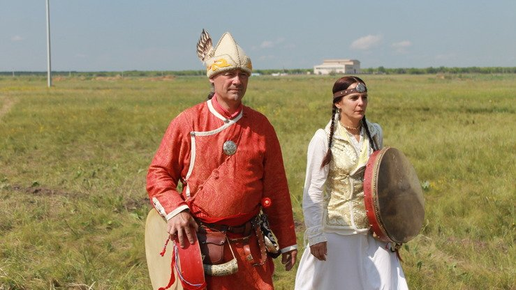 While performing, singers would imitate sounds such as the breath of a deer, the rustling of grass, the scream of a bird and the muttering of a shaman. Musicians from Bulgaria are pictured. [Aydar Ashimov]