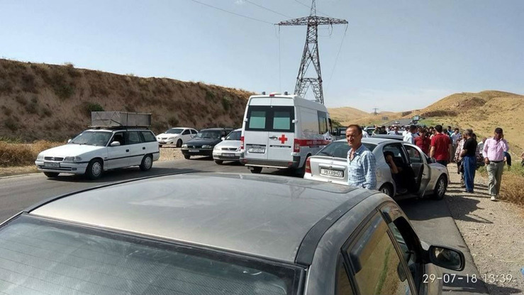Scene from the road in Tajikistan where the deadly incident took place. [Akhbor]