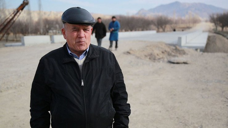 """Thanks to the project, we will have a flood protection system, so we are already feeling so much safer,"" said Yokubjon Mamajonov, head of the Kalachai Mazor community in Isfara, Tajikistan. [World Bank Group]"