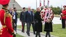 Georgian President Giorgi Margvelashvili August 8 visited Mukhatgverdi Cemetery in Tbilisi to honour the memory of the heroes killed in the Russian-Georgian War and laid a wreath at the memorial. [Administration of the President of Georgia]