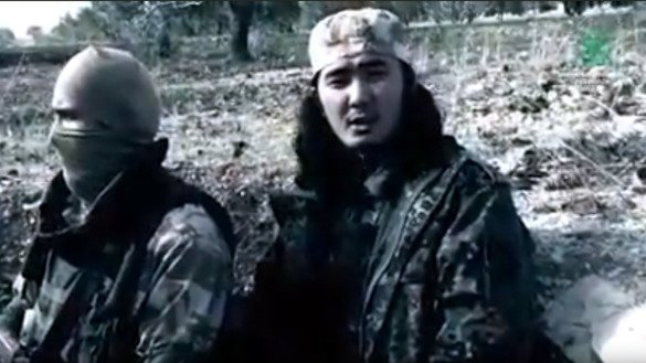 Abu Yusuf, emir of Imam Bukhari Jamaat, an Uzbek extremist group fighting in Syria, can be seen in a video published in January on one of the group's media channels on YouTube. Uzbekistan recently passed a law to define and prevent extremism. [File]