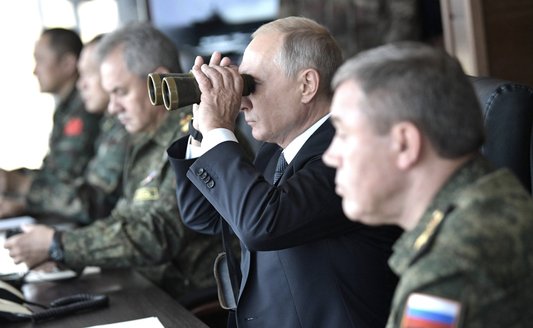 Putin claims Russia is 'peaceful country' during largest ever military drills