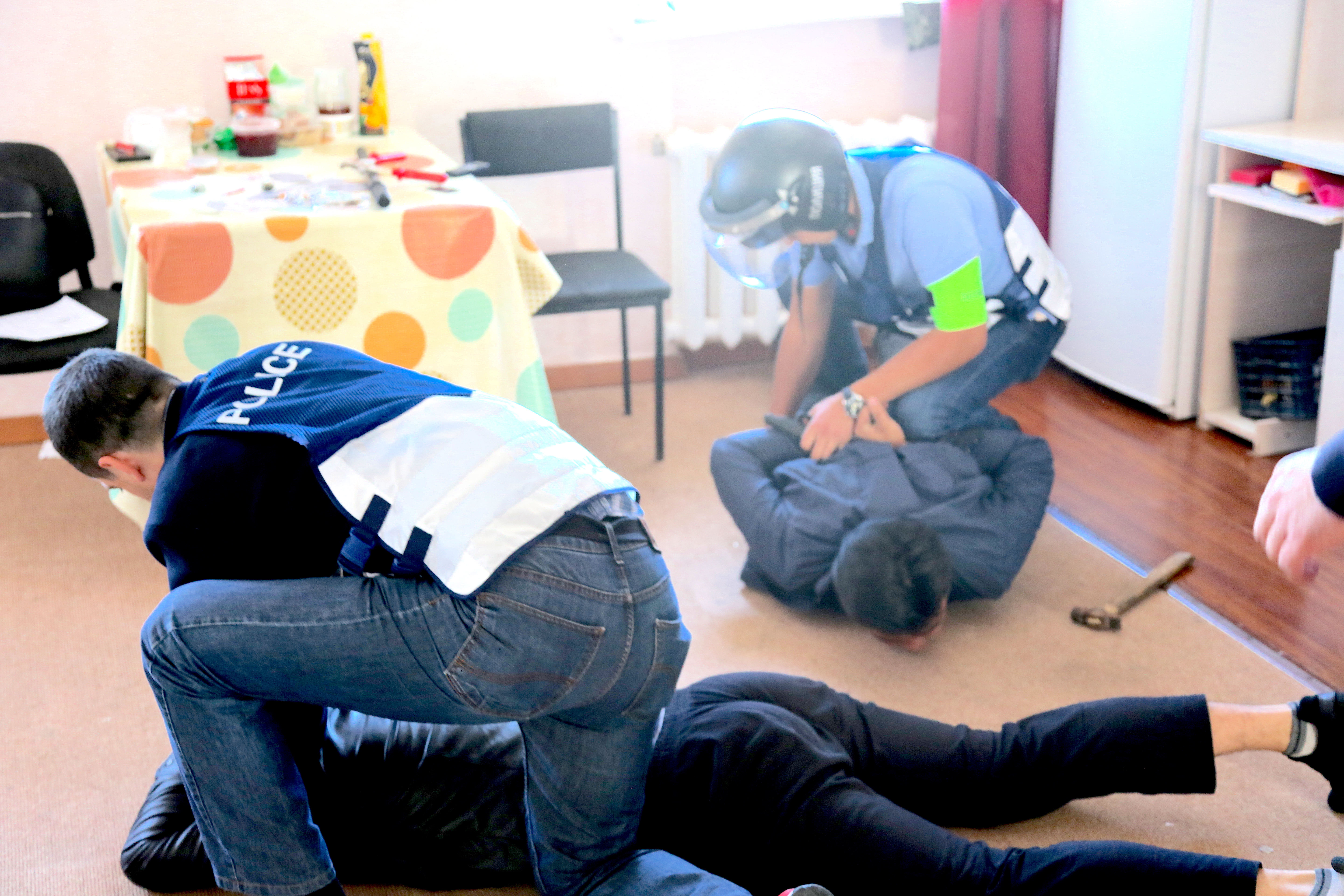 In photos: live-action simulations of human trafficking raids in Kazakhstan
