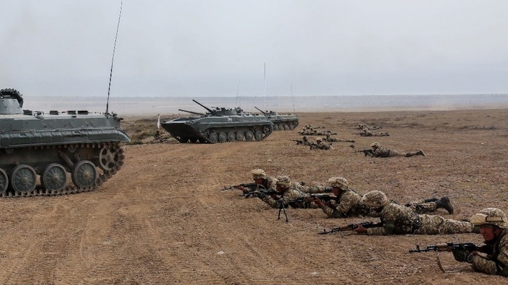 Russia leads the CSTO's Co-operation 2018 exercises at the Edelweiss training ground near Lake Issyk-Kul October 9. [CSTO]