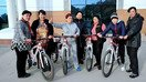 Participants of a bike ride organised by the Women's Committee pose in Tashkent last December. [Women's Committee of Uzbekistan]