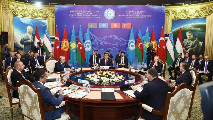 Leaders of Turkic-speaking countries conferred in Cholpon-Ata, Kyrgyzstan, last September. [Azerbaijani presidential website]