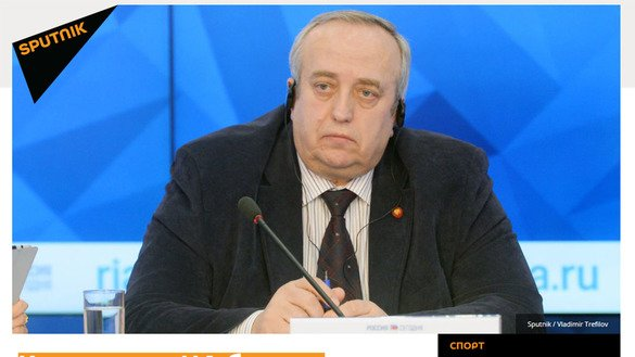 This screenshot of Sputnik Uzbekistan shows its February 7 edition, which quoted Franz Klintsevich, head of the Russian Union of Veterans of Afghanistan.