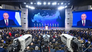 Putin issues new threats against West as his popularity wanes at home