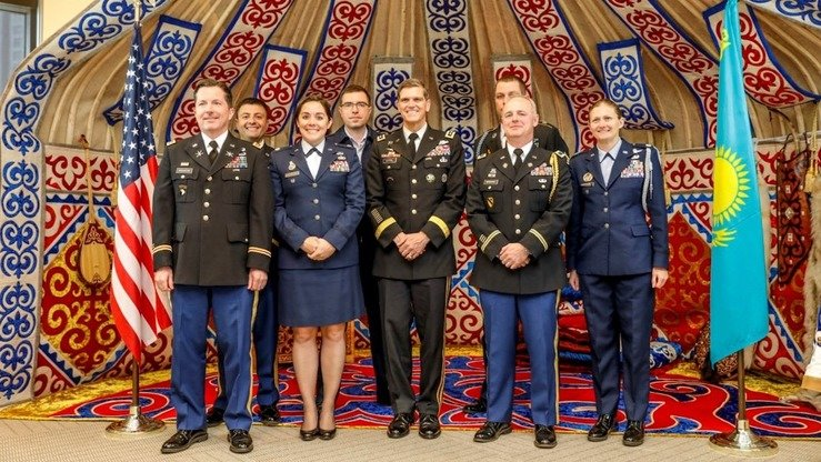 A US delegation led by the commander of US Central Command (CENTCOM), Gen. Joseph L. Votel, takes a photo last May 14 in Astana during a working trip focused on the security and non-proliferation of weapons of mass destruction. [US Embassy in Kazakhstan]