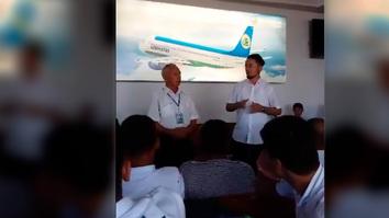 Aeroportdagi ma'ruzalarda oʻzbek migrantlariga Rossiyada ekstremistlar ta'siriga tushmaslik uqtirilmoqda