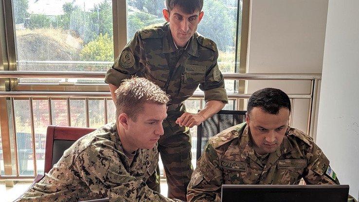 Военные принимают участие в учениях «Региональное сотрудничество 2019». Душанбе, 10 агуста.[Резерв армии США]