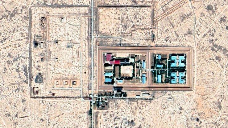 Тюрьма «Жаслык» на картах Google Maps.