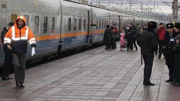 Kazakhstan tightens train, airport security