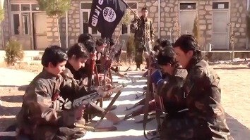 Faltering 'Islamic State' stoops to brainwashing children