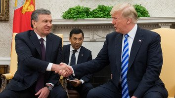 Uzbekistani, US presidents discuss burgeoning 'strategic partnership'