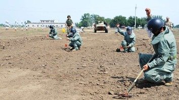 OSCE holds mine clearance training for Central Asian troops
