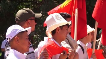 Kyrgyz labour migrants protest dangerous work conditions in Russia
