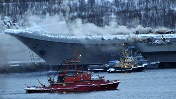 Fire torches Russia's only aircraft carrier in latest military setback